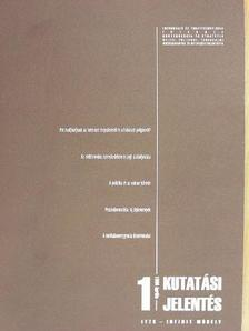 Dr. Verebics János - Kutatási jelentés 1999. április [antikvár]
