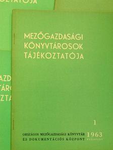 A. M. Bocsever - Mezőgazdasági Könyvtárosok Tájékoztatója 1963/1-4. [antikvár]