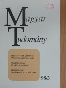 B. Lőrinczy Éva - Magyar Tudomány 1998. március [antikvár]