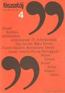 Vörös László - Tiszatáj 1980. április 34. évf. 4. [antikvár]