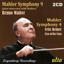 MAHLER - SYMPHONY 9 & 4 2CD BRUNO WALTER, REINER FRIGYES