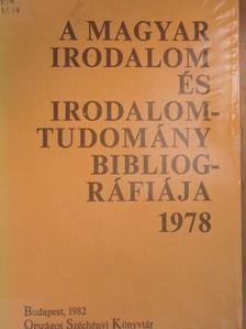 Abet Ádám - A magyar irodalom és irodalomtudomány bibliográfiája 1978 [antikvár]
