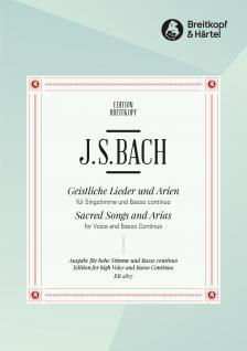 J. S. Bach - GEISTLICHE LIEDER UND ARIEN FÜR HOHE STIMME UND BASSO CONTINUO (L.KREBS)