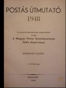 Postás Útmutató 1948 I. évfolyam [antikvár]