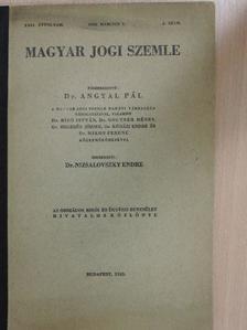 Csánk Béla - Magyar jogi szemle 1943. március 1. [antikvár]