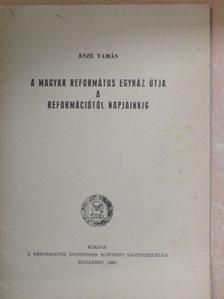 Esze Tamás - A magyar református egyház útja a reformációtól napjainkig [antikvár]