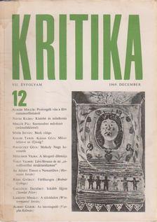 Kritika 1969. december VII. évfolyam 12. [antikvár]