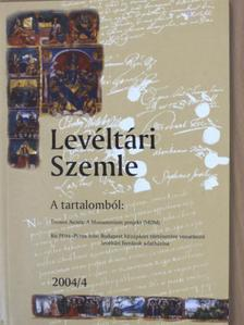 Hermann István - Levéltári Szemle 2004. április [antikvár]
