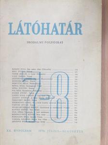 Bálint Lajos - Látóhatár 1970. július-augusztus [antikvár]