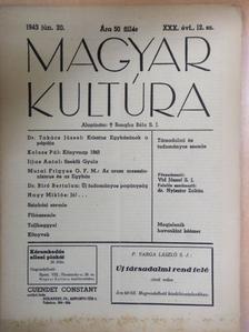 Dr. Biró Bertalan - Magyar Kultúra 1943. június 20. [antikvár]