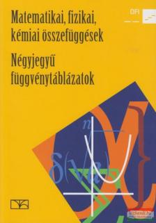 Hortobágyi - Rajkovits - Wajand - 15129/NAT MATEMATIKAI, FIZIKAI, KÉMIAI ÖSSZEFÜGGÉSEK - NÉGYJEGYŰ FÜGGVÉNYTÁBLÁZATOK (NAT 2012)