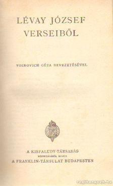 LÉVAY JÓZSEF - Lévay József verseiből [antikvár]