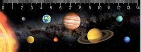 MC902 - Solar system Naprendszer 3D vonalzó 148 * 55 MM
