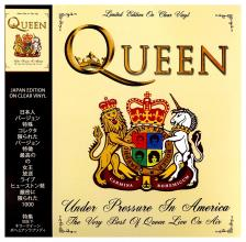 Queen - UNDER PROSSURE IN AMERICA LP QUEEN - LIMITED EDITION ON CLEAR VINYL