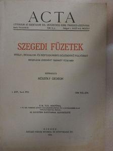 Cs. Sebestyén Károly - Szegedi Füzetek 1934. május-június [antikvár]