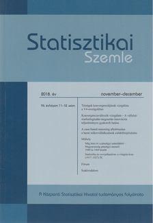 DUSEK TAM - Statisztikai Szemle 2018. november-december [antikvár]