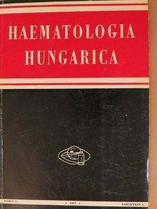 Dr. Hollán Zsuzsa - Haematologia Hungarica 1961/1-2. [antikvár]