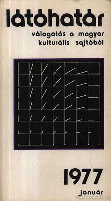 Szabolcsi Miklós - Látóhatár 1977 Január [antikvár]