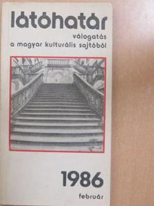 Aczél György - Látóhatár 1986. február [antikvár]
