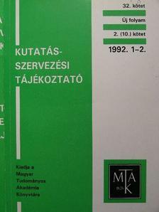 Farkas János - Kutatásszervezési tájékoztató 1992. 1-6. [antikvár]