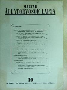 Dr. B. Kovács András - Magyar Állatorvosok Lapja 1963. október [antikvár]