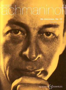 RACHMANINOFF, SERGE - SIX MORCEAUX, OP.11 FOR PIANO DUET