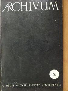 Cs. Varga István - Archivum 6. [antikvár]
