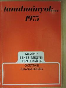 Dr. Becsei József - Tanulmányok... 1975 [antikvár]