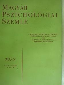 Büky Béla - Magyar Pszichológiai Szemle 1972/2. [antikvár]