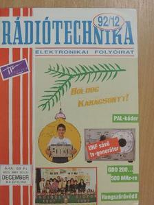 Borbás István - Rádiótechnika 1992. december [antikvár]