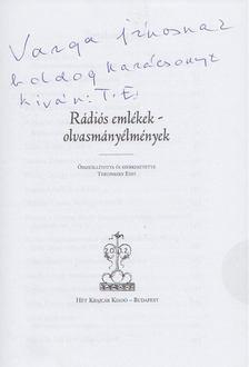 Tertinszky Edit - Rádiós emlékek - olvasmányélmények (dedikált) [antikvár]