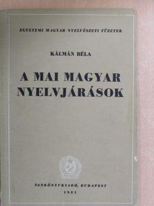 Kálmán Béla - A mai magyar nyelvjárások [antikvár]
