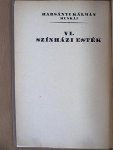 Harsányi Kálmán - Színházi Esték [antikvár]