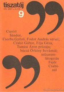 Vörös László - Tiszatáj 1979. szeptember 33. évf. 9. [antikvár]