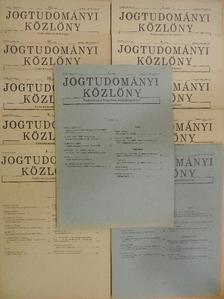 Domány András - Jogtudományi Közlöny 1984. (nem teljes évfolyam) [antikvár]