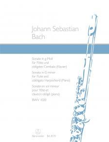 J. S. Bach - SONATE IN g-MOLL FÜR FLÖTE UND OBLIGATES CEMBALO (KLAVIER) BWV 1020, HERAUSGEGEBEN VON ALFRED DÜRR