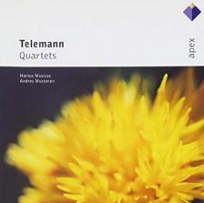 TELEMANN - QUARTETS CD HORTUS MUSICUS, ANDRES MUSTONEN