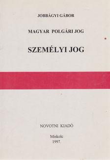 Jobbágyi Gábor - Személyi jog [antikvár]