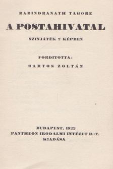 Rabindranáth Tagore - A postahivatal [antikvár]