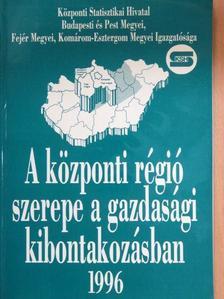 Balogh Károly - A központi régió szerepe a gazdasági kibontakozásban 1996 [antikvár]