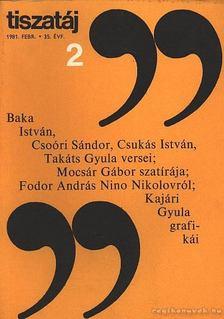 Vörös László - Tiszatáj 1981. febr. 2. szám [antikvár]