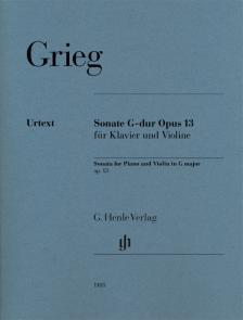 GRIEG - SONATE G-DUR OP.13 FÜR KLAVIER UND VIOLINE
