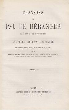 Pierre-Jean de Béranger - Chansons de P. J. Béranger anciennes et posthumes [antikvár]