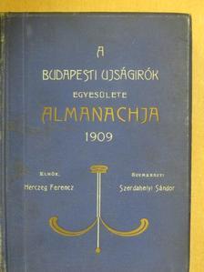 Ábrányi Emil - A Budapesti Ujságirók Egyesülete 1909-ik évi almanachja [antikvár]