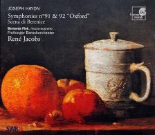 HAYDN J. - SYMPHONIES NO.91 & 92, SCENA DI BERENICE CD JACOBS