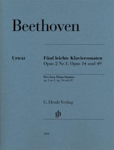 BEETHOVEN - FÜNF LEICHTE KLAVIERSONATEN OP.2 NR.1, OP.14 UND 49