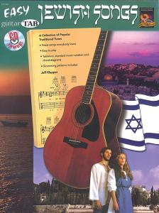 KLEPPER JEFF - JEWISH SONGS EASY GUITAR TAB (CD INSIDE)