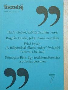Ágh István - Tiszatáj 1994. július [antikvár]