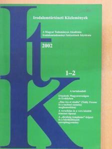Ajkay Alinka - Irodalomtörténeti Közlemények 2002/1-2. [antikvár]