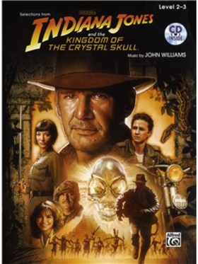 JOHN WILLIAMS - INDIANA JONES AND THE KINGDOM OF THE CRYTAL SKULL. SELECTION. VIOLIN /PIANO ACC. LEVEL 2-3 + CD